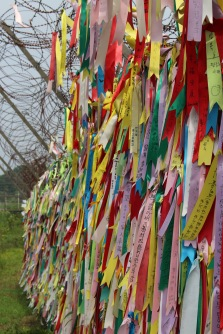 Ribbons on the border between North & South Korea