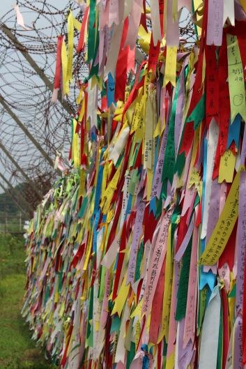 Ribbons on the border between North & South Korea